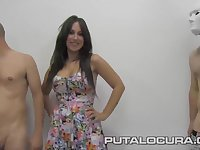 PUTA LOCURA Spanish Bukkake with Busty Irene