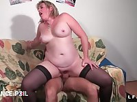 BBWS French cougar hard fisted and assfuck