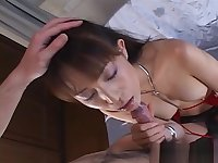 Blowjob in POV with bitchy japanese