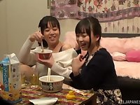 Tsukada Shiori decides to call her lesbian friend for amazing fuck