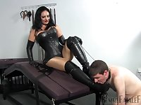 dominant Mistress Ezada wants to punish her lover with a sex game