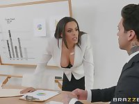 Office milf turns wild on her business partner's big dick