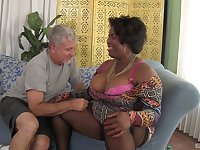 BBW Marliese Morgan adores jumping on her friend's strong penis