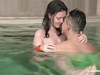 There is nothing better for Alessandra Amore than a sex by the pool