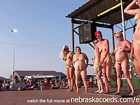 Interesting Amateurs Pole Stripping Contest At A Iowa Biker Rally -Amateurs