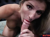 Steamy mommy point of view with creampie