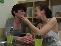 Isadora and Jaclyn invite a friend for a mature lesbian threesome
