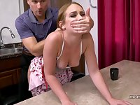 Father and Daughter while housewife watches - oral intercourse