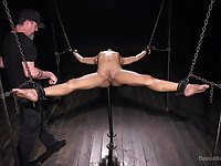 Amazing and brave Kira Noir is ready for BDSM exprerience with a friend