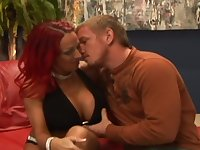 Redhead milf Whitney with fake tits banging on dick hardcore