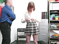 Yummy ginger teen Alexa Nova gets her pussy and anus punished for shoplifting