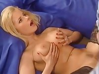 Horny German Blonde Fucks Her Man At Home