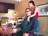 Bitchy girlfriend Zarah is face fucked before crazy and rough anal sex