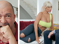 Big-breasted blonde MILF fucking her hubby's boss