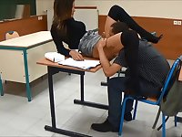 A math teacher takes pleasure with a sexy student during a private lesson