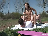 Poppy Pleasure - Pretty young babe getting copulated in public