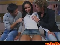Sweet Michelle Banks cannot resist a couple of massive dongs