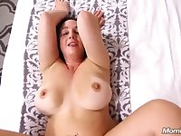 Hot chubby mommy gets her holes stretched out