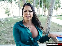 Sexy Latina MILF has got great titties and she loves a nice sausage