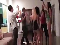 Gorgeous Excited Teens Dancing And Flashing Tits At A Party