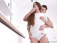 Standing on knees Russian GF Mary Rock gives such a good blowjob