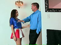 Young Cutie Cheerleader Screwed By Teacher