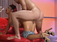 Ebony with fine ass gets drilled by a white hammer
