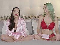 Jelena Jensen and Karlee Grey show their boobs in the interview