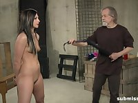 Sexy brunette Jade Thomas moans with pleasure from BDSM torture