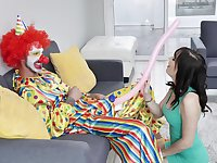 Kinky clown sex with adorable MILF starlet Alana Cruise