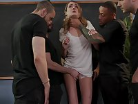 Gagged wild cowgirl Zoe Sparx deserves really hardcore gang bang