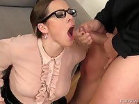 Homemade video of wife Bibi Fox with glasses getting fucked