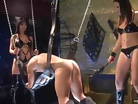 Gianna Lynn is having tons of fun with her kinky friends, in a special room