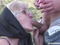 Extremely perverted dude fucks the shit out of still useful granny