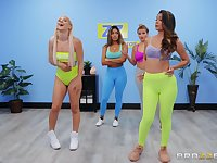 Abella Danger and Katana Kombat hook up after a fitness class session
