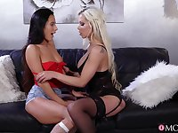 Hot licking and rough toy play with Lexi Dona and Barbie Sins